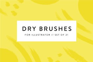 21 Dry Brushes for Illustrator