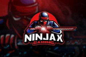 Ninjax Gaming - Mascot & Esport Logo