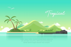 Tropical - Vector Landscape & Buildi