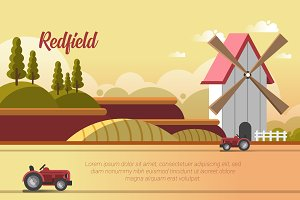 Redfield - Vector Landscape & Buildi