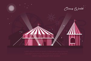Circus World - Vector Landscape