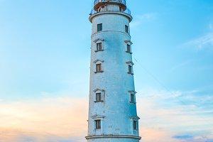 Lighthouse at sea coast
