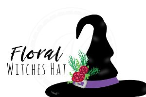 Floral Witches Hat