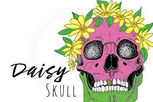 Daisy Floral Skull