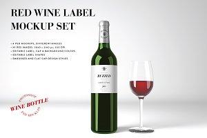 Red Wine Mockup Set - Photoshop PSD