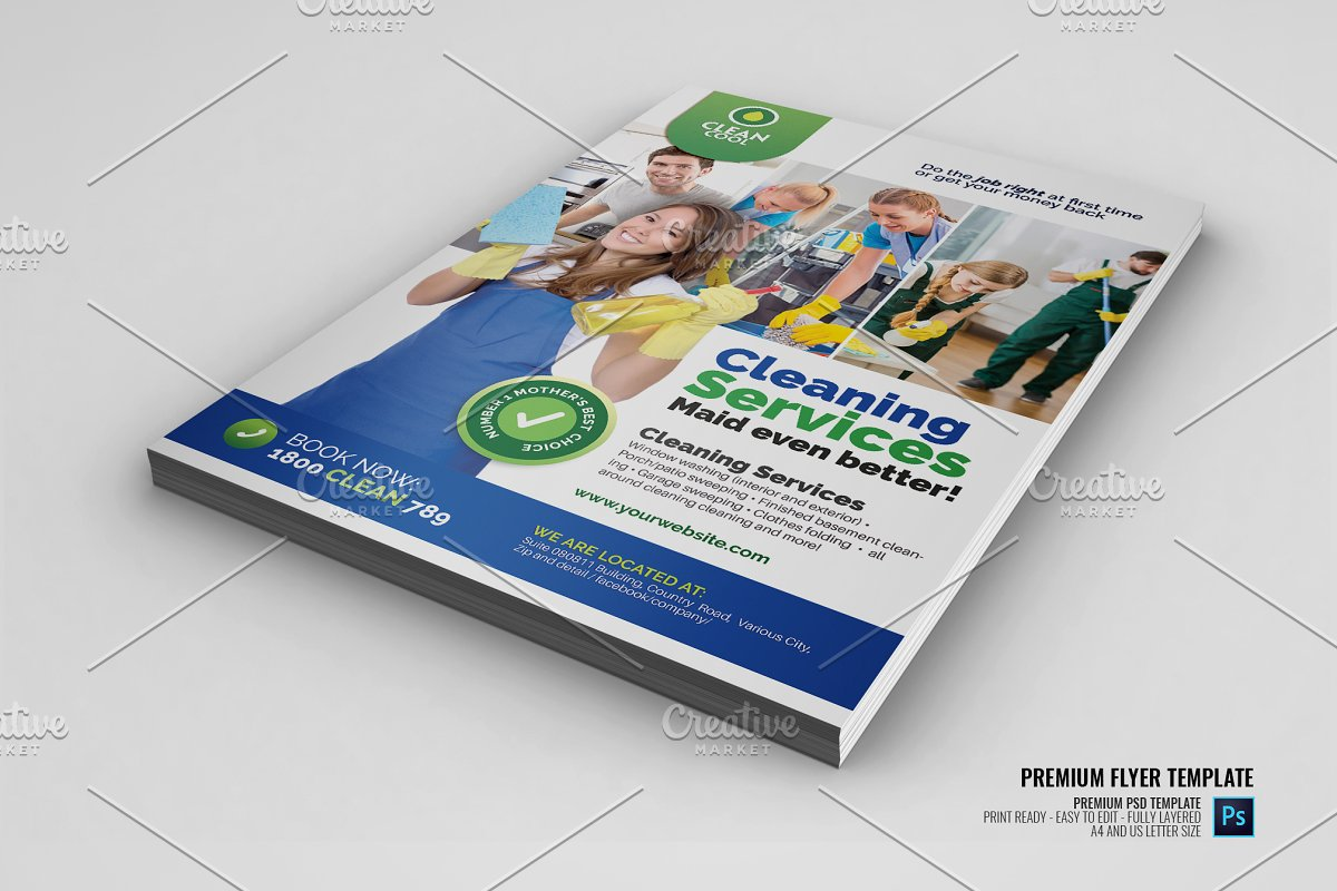 Household Cleaning Service Flyer ~ Flyer Templates ~ Creative Market