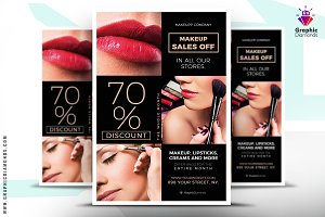 Cosmetics Sales Flyer Template