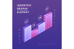 Isometric vivid design of graph