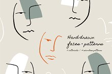 Hand Drawn Faces | Patterns