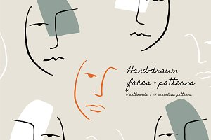 Hand Drawn Faces | Patterns + Boards