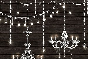 Chandeliers String Lights Vectors