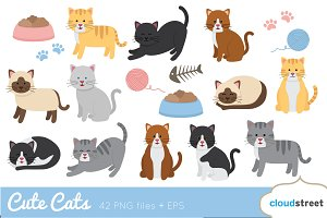 Cute Cats Clip Art