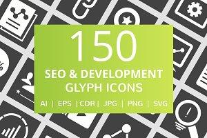 150 SEO & Development Glyph Icons
