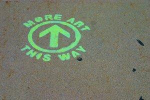 Sidewalk Art Sign