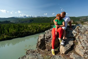 lovers in the mountains