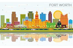 Fort Worth Texas City Skyline