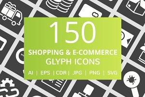 150 Shopping & E-Commerce Glyph Icon