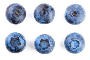 fresh ripe blueberry isolated on