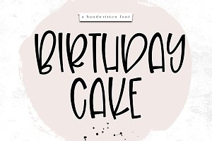 Birthday Cake - Fun Handwritten Font