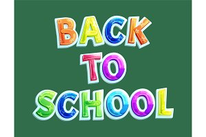 Back to school banner with title