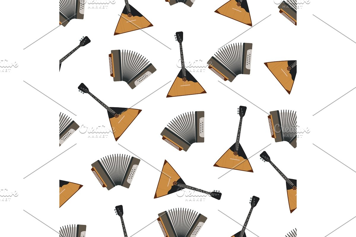 Russian Musical Instruments Vector