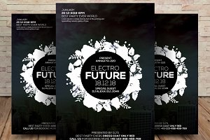 Electro Future Flyer Psd