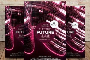 Electro Future Concert Flyer