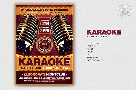 karaoke flyer template v2 flyer templates creative daddy