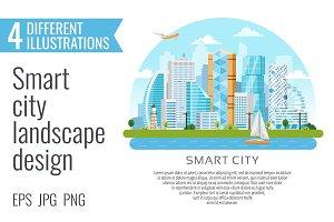 4 smart city landscape designes