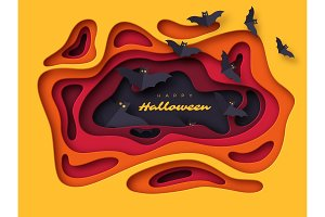 Halloween holiday background. Paper