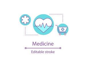 Healthcare service concept icon