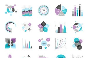 Business charts infographic icons
