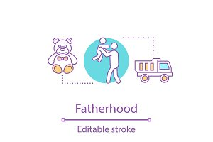 Fatherhood concept icon