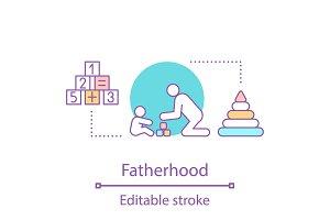 Fatherhood concept icon