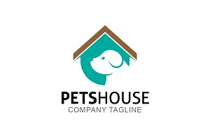 Pets House Logo Template