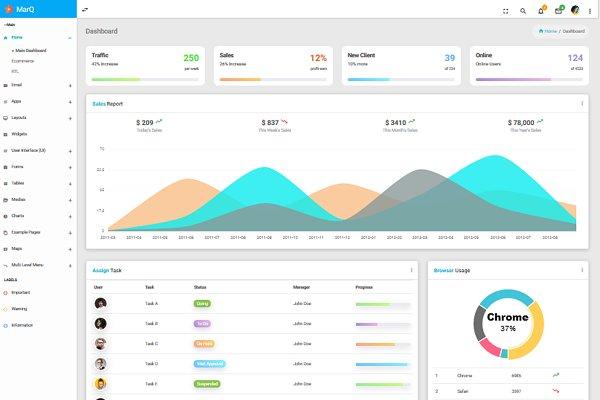 Mash Able Bootstrap + Angular4 Admin ~ Bootstrap Themes ~ Creative