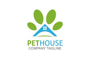 Pet House Logo Template