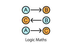 Logic maths color icon