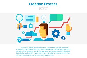 Creative process illustration