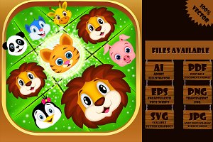 Animal Match-3 Puzzle Game Icon