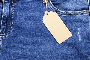jeans with a brown paper
