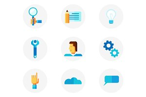 Productivity icon set