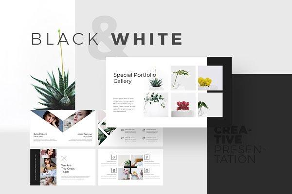 Presentation Templates: MasterSlides - Black & White Keynote Template