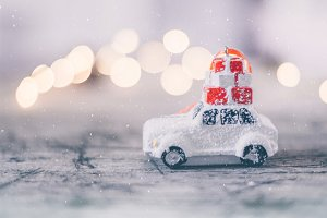 Christmas Holiday Snow Concept