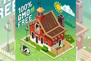 Isometric GMO Free Farming