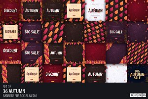 Autumn Collection   36 Banners
