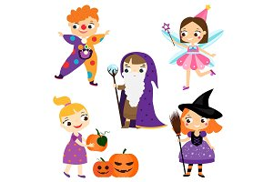 Halloween kids. Children in costumes
