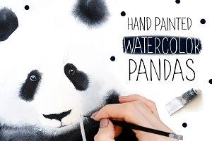 Watercolor Pandas