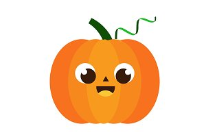 Cartoon pumpkin character