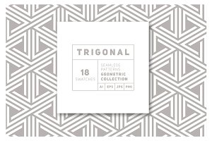 Trigonal Seamless Patterns Set